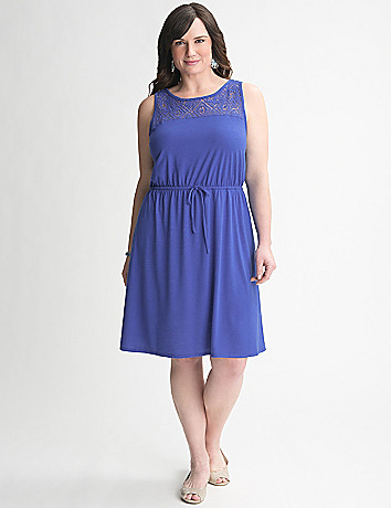 Crochet Yoke Dress by Lane Bryant
