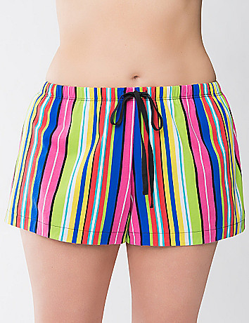 Striped knit sleep short by Cacique
