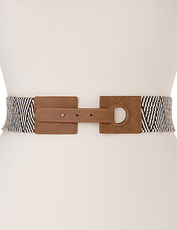 Plus Size Woven Stretch Belt by Lane Bryant