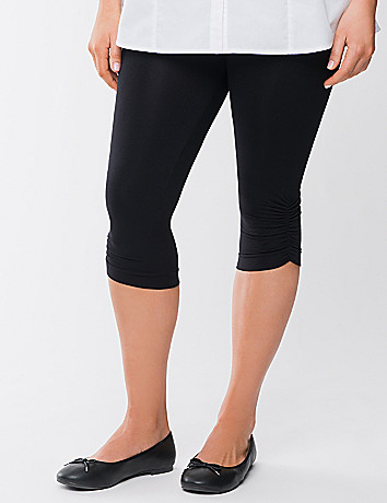 Ruched control top leggings