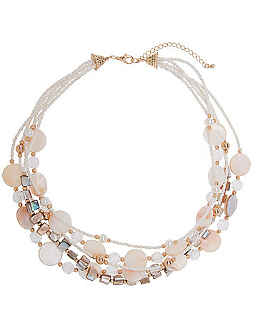 5-row shell necklace by Lane Bryant