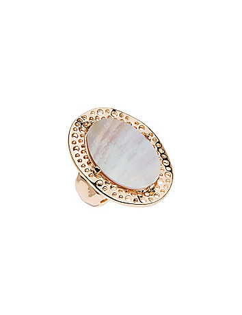 Shell cocktail ring by Lane Bryant