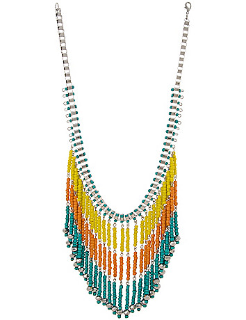 Beaded fringe necklace by Lane Bryant