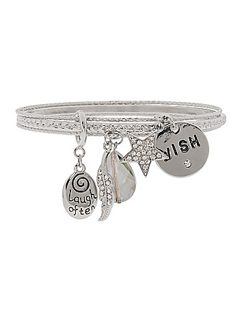 Wish charm bracelet by Lane Bryant