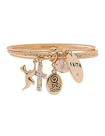 Faith charm bracelet by Lane Bryant