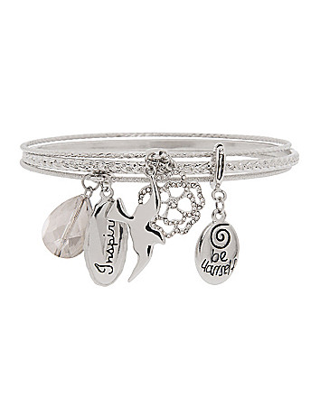 Be Yourself charm bracelet by Lane Bryant
