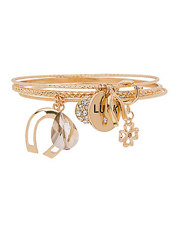 Lucky charm bracelet by Lane Bryant