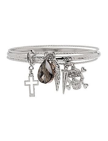 Skull charm bracelet by Lane Bryant