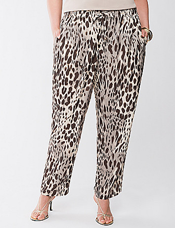 Lane Collection silky leopard pant