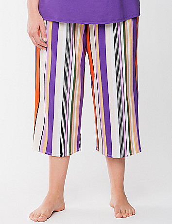 Striped cropped sleep pant