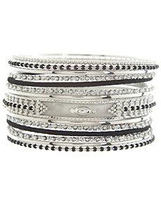 Beaded bangle bracelet set by Lane Bryant