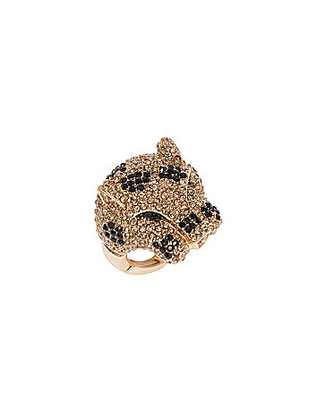 Faux topaz tiger ring by Lane Bryant