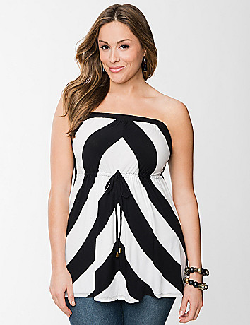 Chevron tube top