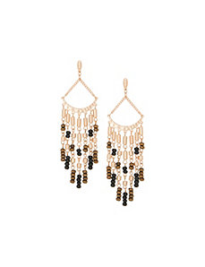 Wooden bead chandelier earrings by Lane Bryant