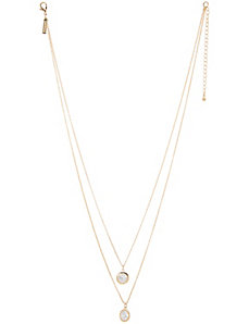 Nested cubic zirconium necklace by Lane Bryant