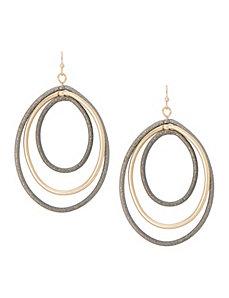 Triple teardrop earrings by Lane Bryant