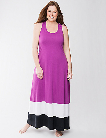 Colorblock sleep maxi lounger