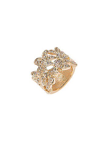 Intertwined leaf ring by Lane Bryant