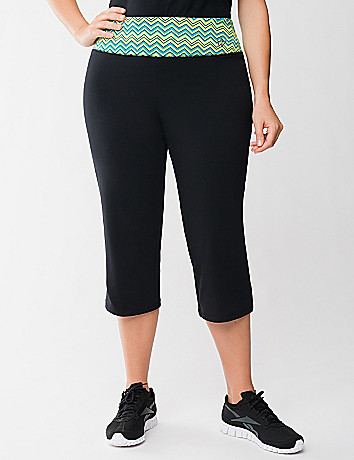 Active capri with chevron waist