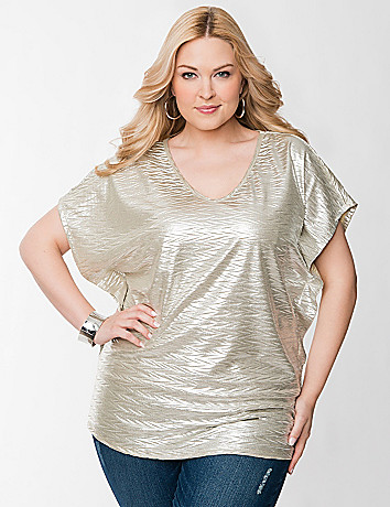 Metallic dolman top by Seven7
