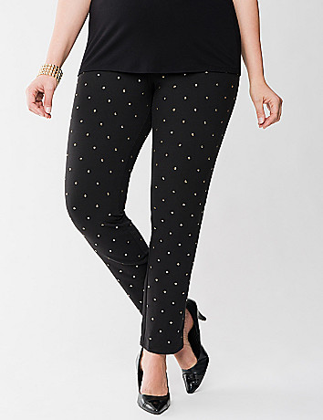 Lane Collection gold studded jegging