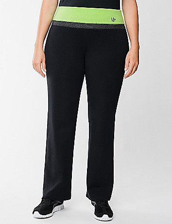 Yoga pant with contrasting waist