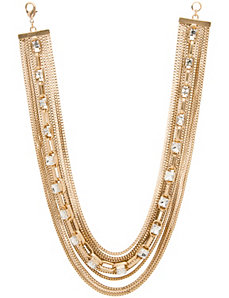 Lane Collection multi chain & stone necklace
