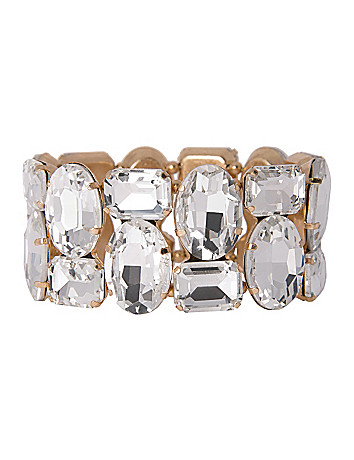 Mirrored stone stretch bracelet by Lane Bryant