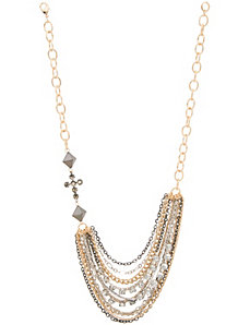Multi chain cross necklace by Lane Bryant