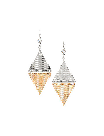 Two tone textured earrings by Lane Bryant