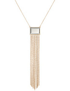 Lane Collection mirror & tassel necklace
