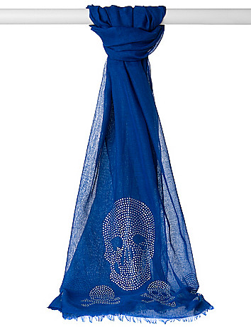Rhinestone skull scarf
