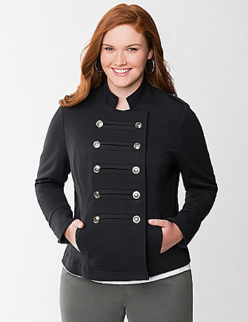 French terry military jacket