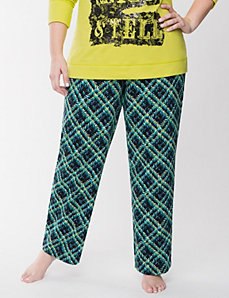 Plaid knit sleep pant