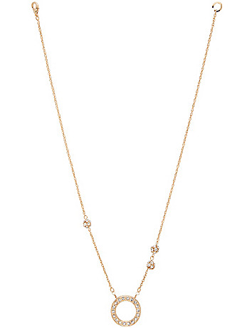 Hoop & fireball necklace by Lane Bryant