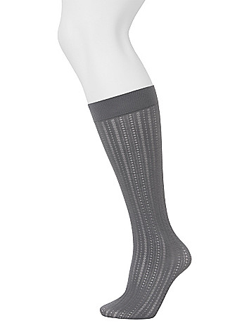 Solid & pointelle trouser sock 2 pack