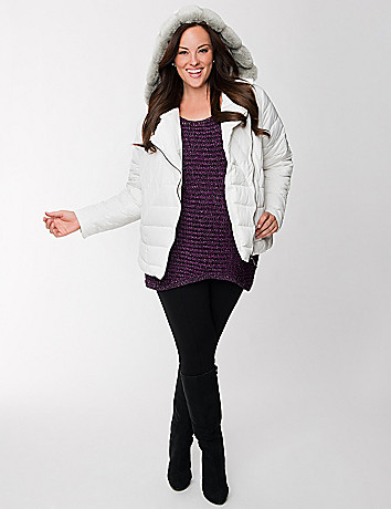 Lane Collection embellished puffer coat
