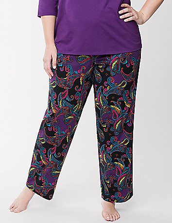 Paisley knit sleep pant