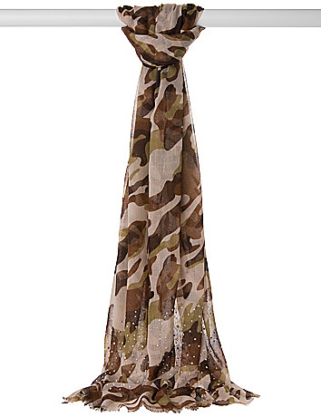 Studded camo scarf