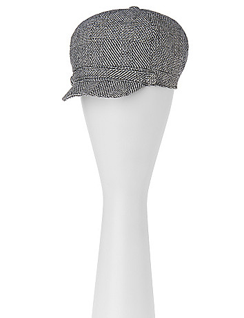 Patterned cabbie hat