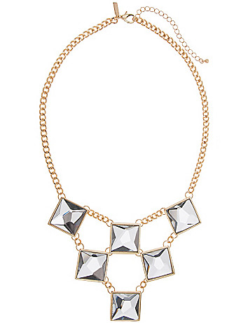 Geo glass stone necklace by Lane Bryant