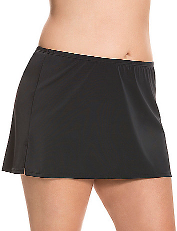 Slimming plus size New and improved slitted swim skirt