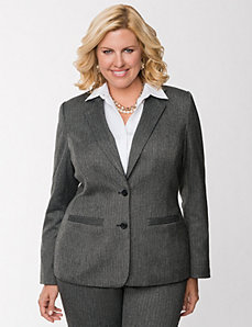 Herringbone suit jacket
