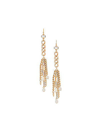 Pearl tassel earrings by Lane Bryant