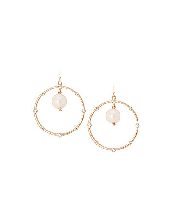 Hoop & pearl earrings by Lane Bryant