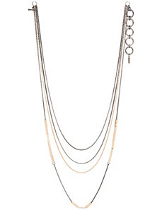 Multi chain bar necklace by Lane Bryant