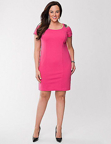 Lane Collection zip shoulder dress