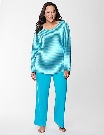 Metallic stripe PJ set