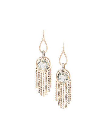Lane Collection stone & tassel earrings
