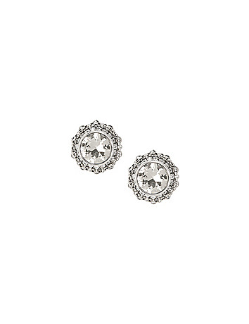 Stone & chain earrings by Lane Bryant